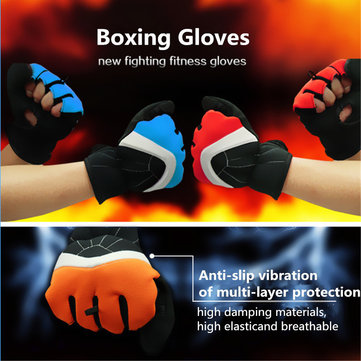 Men Women Bicycle Cycling Gloves Half Finger Fingerless Outdoor Sport Antiskid Breathable Mittens