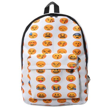 Versatile Smiley Emoji Funny Emotion Backpack Boys Girls Schoolbag от Newchic.com INT