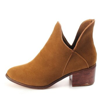 Fashion V Shaped Slip On Ankle Boots от Newchic.com INT
