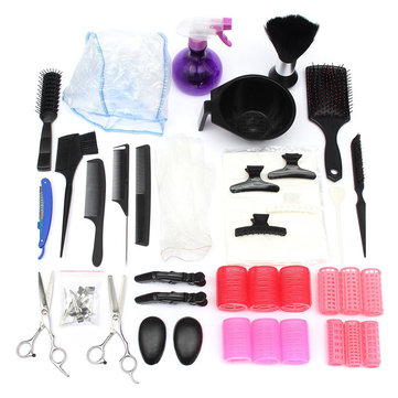 Professional Salon Hair Cutting Kit Brush Comb Color Dye Tint Tool DIY Barber Hairdressing от Newchic.com INT