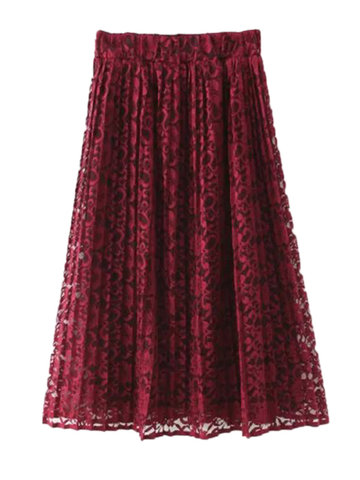 Buy OL Bouffancy Lace Crochet Women Party High Waist Skirt