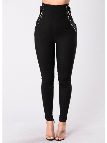 Sexy Bandage Skinny Tight High Waist Pencil Pants For Women