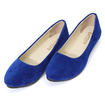 Pure Color Round Toe Slip On Flat Ballet Shoes от Newchic.com INT