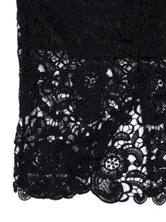 Sexy Solid Lace Crochet Floral Halter Sleeveless Women Dress