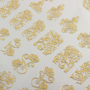 1 Sheet Elegant Gold Rose Flowers Nail Art Stickers Decal