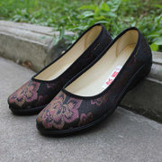 Vintage Casual Slip On Flat Flower Print Soft Sole Loafers