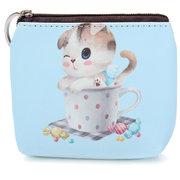 Women Cartoon Cat Zipper Cion Bag Wallet
