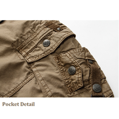 Mens Outdoor Plus Size Overall Big Pockets Summer New Casual Cargo Short
