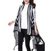 Ethnic Sleeveless Women Irregular Hem Tassels Knit Sweater Cardigan