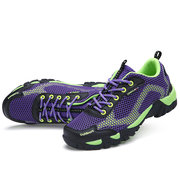 Big Size Breathable Mesh Sport Jogging Outdoor Walking Hiking Color Match Flat Sneakers