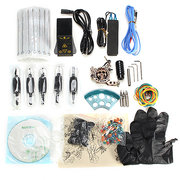 Complete Skull Embossed Tattoo Machine Kit With Rotary Table EP-2 Power Supply Equipment Suit
