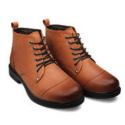 New Men Winter Chukkas Shoes Boots with Warm Faux Fur Lining