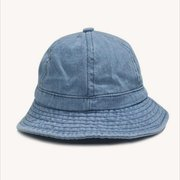 Women Denim Solid Color Bucket  Cap Fisherman Jean Summer Outdoor Visors Hat