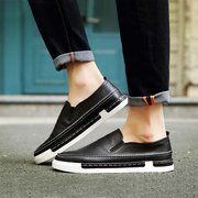 Fashion PU Slip On Casual Sneakers Vintage Style for Men