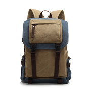 Large Capacity Men Canvas Mountaineering Hiking Backpack