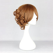 Harajuku Brown Short Synthetic Fiber High Temperature Cosplay Wig Anime Costume Hair