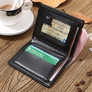 Large Capacity Pu Leather Short Wallet Credit Card Holder Change Purse For Man