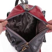 Women Elegant Patches Vintage Handbag Large Capacity Retro Shoulder Bag