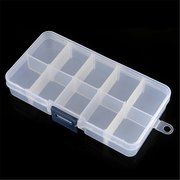 2Pcs 10 Cells Detachable Compartment Empty Storage Case Box For Nail Tip Gems Little Stuff