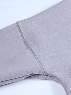 Women Side Split Fleece Long Sleeve Casual Sweatshirt