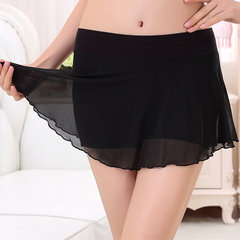Women Sexy Breathable Mesh Modal Boyshorts Elastic Safety Short Skirt
