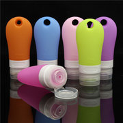 6 Colors 60ml Soft Empty Refillable Bottles Travel Lotion Bath Cream Shampoo Container Neat