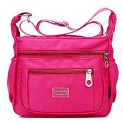 Женщины Водонепроницаемый Crossbody сумка Multi-молния сумка Досуг Дорожная сумка