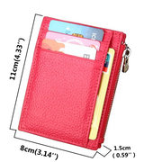 RFID Antimagnetic Woman Man Card Eight Card Holders Cow Leather Purse Wallet