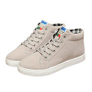 Men Cotton High Toe Lace Up Casual Shoes