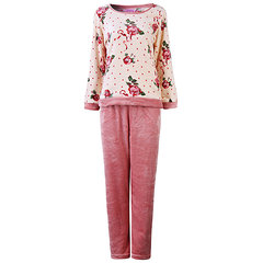 Comfy Thicken Keep Warm Pajamas Coral Velvet Long Sleeve Sleepwear Sets For Women