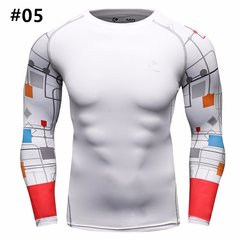 Mens Traning Sportwear 12 Styles Elastic Quick-drying Fitness Tights Long Sleeve T-shirt