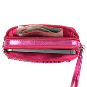 Women Pearl Make-up Wristlet Clutch Bag