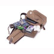 Men Women Headphone Plug Canvas Leisure Shoulder Bag Vintage Style Crossbody Chest Pack