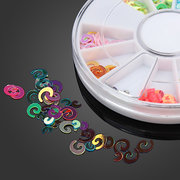 12 Colors DIY PVC Nail Art Decoration White Round Wheel