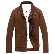 Big Size Mens Fashion Military Style Stand Collar Outdoor Casaul Cotton Jacket