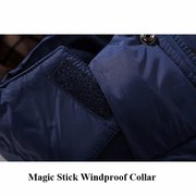 Winter Casual Thicken Warm Windproof Furry Hooded Padded Jacket for Men