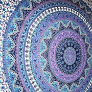 Printed Round Beach Towels Shawl Scarf Bohemian Style Yoga Mat Wall Hanging Decor