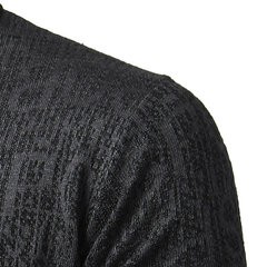 Mens Fall Winter Knitting Sweater Thick Warm Letters Pattern Long Sleeve Tops