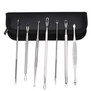 7Pcs Facial Blackhead Whitehead Acne Pimple Extractor Remover Tool Kit