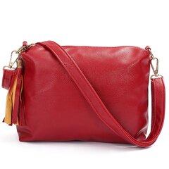 Женщины Повседневная Crossbody сумка кисточкой Сумка Свободное молния сумки на ремне