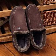 Мужская замша Теплый меховой подкладке Non-Slip Out Door Flat Повседневная обувь