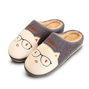 Cute Cartoon Animial Slip On Indoor Flat Home Shoes