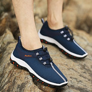 Men Mesh Hiking Sport Running Breathable Lace Up Shoes