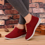 Comfortable Casual Warm Fur Lining Lazy Shoes Ankle Snow Boots
