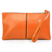 Women Casual Joint Pure Color PU Leather Phone Bag Card Bag Wallet