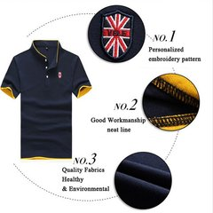 Big Size Casual Stand Collar Polo Shirts Solid Sports T-shirts For Men