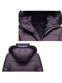 Women Long Sleeve Hooded Thicken Cotton-padded Coat