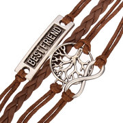 Multilayer Love Infinite Symbols Woven Leather Bracelet