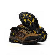 Men Mesh Breathable Anti Skip Wearproof Lace Up Outdoor Hiking Shoes