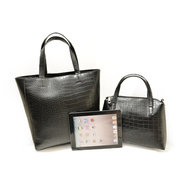 Women Vintage PU Crossbody Bags Set Crocodile Print Shoulder Bags